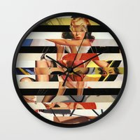 Glitch Pin-Up Redux: Lin… Wall Clock