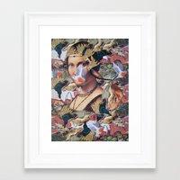 LA BELLE FERRONIERE EN CRAQUELURES Framed Art Print