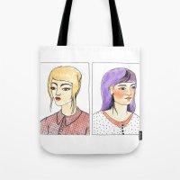 Fancy hair pair Tote Bag