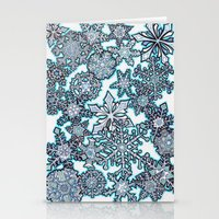 Gentle Snowstorm Stationery Cards
