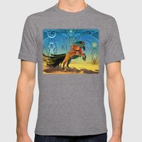 The Wind Of Time (Red Ho… Mens Fitted Tee Tri-Grey SMALL
