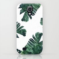 Samsung Galaxy S4 Case featuring Banana Leaf Watercolor Pattern #society6 by 83 Oranges™