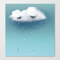 crying cloud Canvas Print