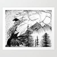 Murder On The Mountain Art Print