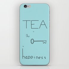 Tea is the Key to Happiness iPhone & iPod Skin