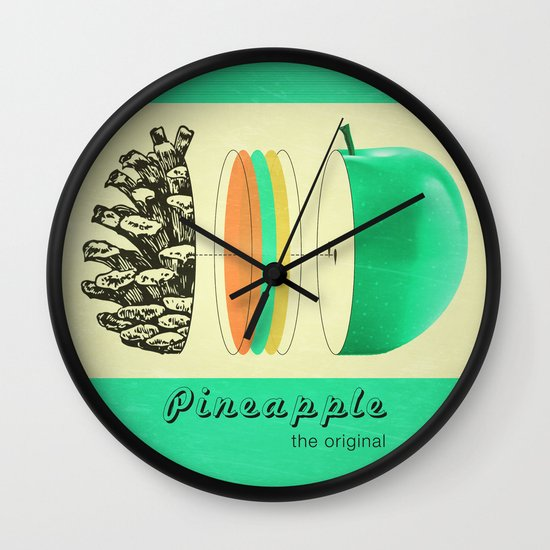 pineapple, the original Wall Clock