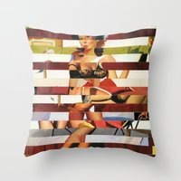 Glitch Pin-Up Redux: Britney Throw Pillow