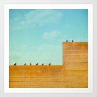 Birds On A Wall Art Print