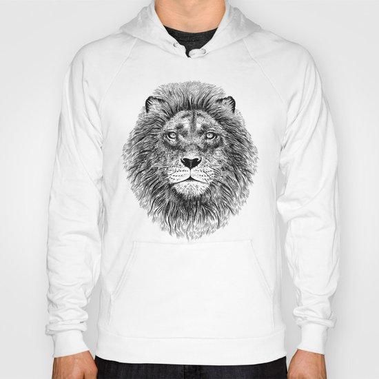 Black+White Lion Hoody