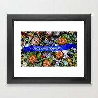 Lest we Forget Framed Art Print