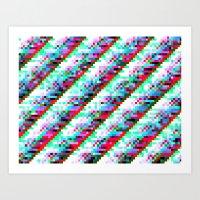Filtered Diagonals Art Print