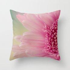 Pink bursts, Floral Macro Photography Throw Pillow