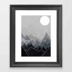 Grey Mountains  Framed Art Print