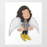 Angel Haz Art Print