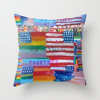 Flags For The Future Mash Up Throw Pillow