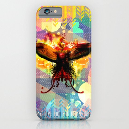 My Love For You Is On Fire iPhone & iPod Case
