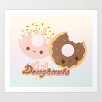 Sweet Doughnuts Art Print