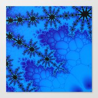 Black and blue fractal Canvas Print