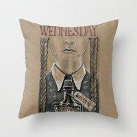 Wednesday Addams (DRAWLL… Throw Pillow