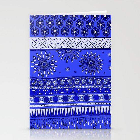 Yzor pattern 007-2 blue Stationery Card