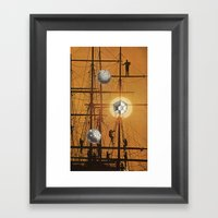 microscopic view Framed Art Print