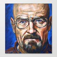 Walter White Breaking Ba… Canvas Print