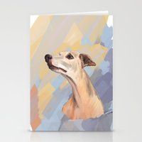 Whippet Face Stationery Cards