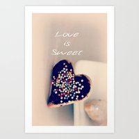 Love is Sweet  - JUSTART © Art Print