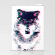 Act Like A Wolf.  Stationery Cards