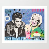 James And Marilyn  Art Print