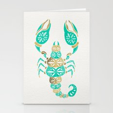 Scorpion – Turquoise &… Stationery Cards
