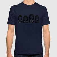Hey ho, let's go! Mens Fitted Tee Navy SMALL