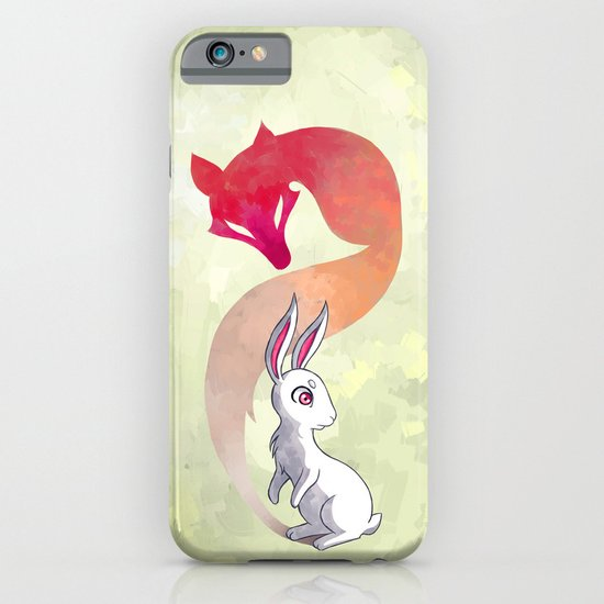 Rabbit and a Fox iPhone & iPod Case