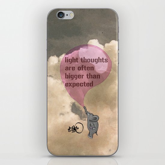 light thoughts are often bigger than expected iPhone & iPod Skin