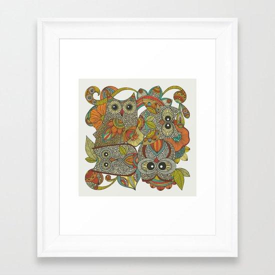 4 Owls Framed Art Print