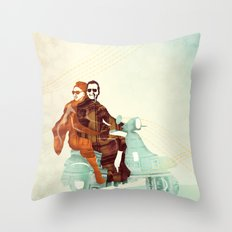 Vintage Italian Throw Pillow
