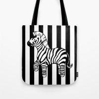 zebra stripe Tote Bag