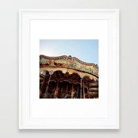Carousel In Marseille Framed Art Print