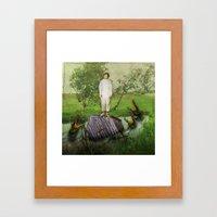 No Man An Island Framed Art Print