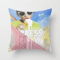 Press Play Now Throw Pillow