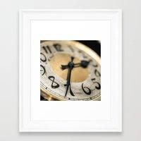 The Clock Framed Art Print