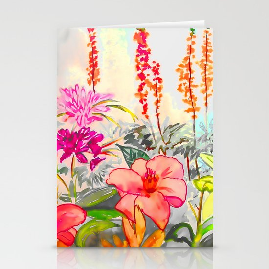 Watercolor Floral Stationery Card