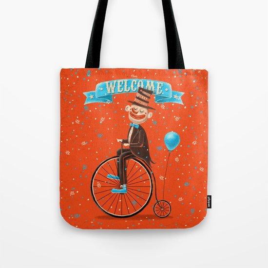 Penny-farthings circus Tote Bag