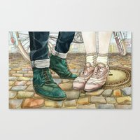 Brogues For A Date Canvas Print