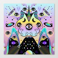 Power of Three Cats Canvas Print