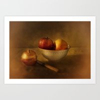 Still Life With Apples Art Print