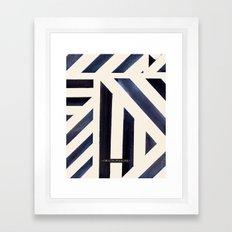 Watercolor Stripe Midnight Framed Art Print