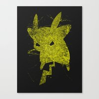 Yellow Monster Canvas Print