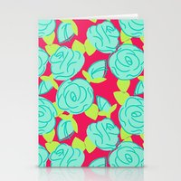 Roses Are Hot Stationery Cards