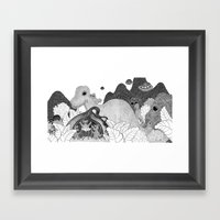 Life In The Onion Framed Art Print